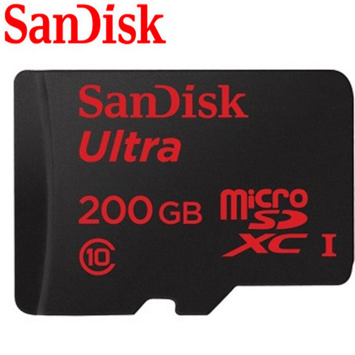 SanDisk Ultra 200GB UHS-I / Class10 Micro SDXC Memory Card with Adapter