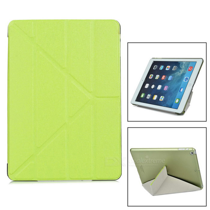 Protective TPU Back Case Cover w/ Stand for IPAD AIR - Green