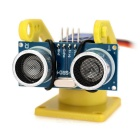 Ultrasonic Distance Measuring Transducer Module Kit w/ 9g Servo - Yellow