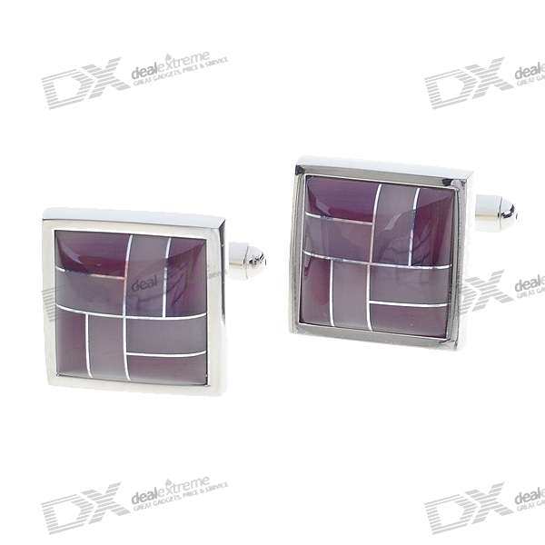 Pink Cuff Links/Buttons (Pair)
