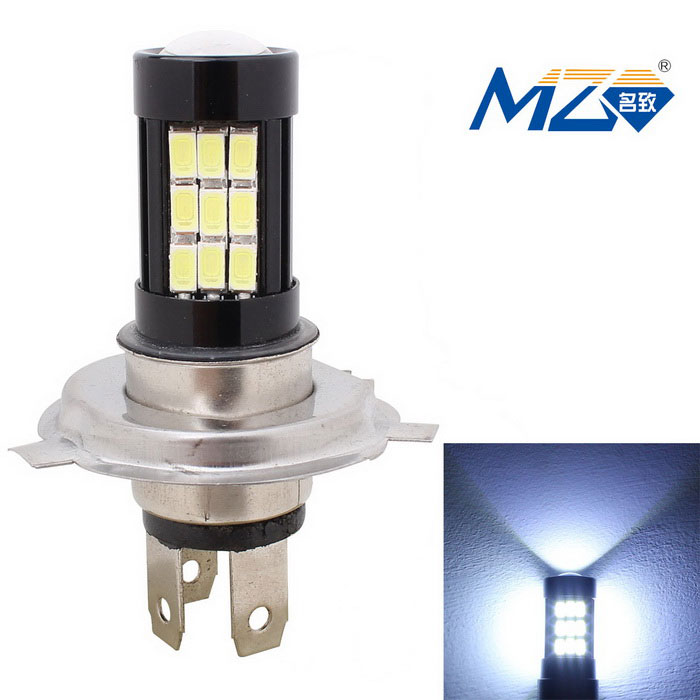 MZ H4 14.5W LED Car Headlamp White Light 6500K 1015lm - Black (12~24V)