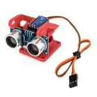 Ultrasonic Distance Measuring Transducer Module Kit w/ 9g Servo - Red