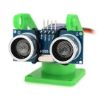 Ultrasonic Distance Measuring Transducer Module Kit w/ 9g Servo - Green