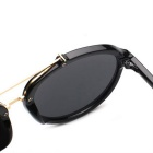SENLAN UV400 Protection Classic Retro Sunglasses - Black + Blue