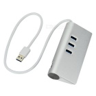 Super Speed Aluminum 3-Port USB 3.0 Hub w/ RJ45 - Silver