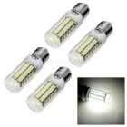 E27 9W Corn Bulb w/ Transparent Cover Cold White 600lm 56-LED (4PCS)
