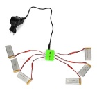 1-to-6 Battery Charger + 3.7V 750mAh Batteries + AC Adapters for JJRC H12C / DFD F181 / MJX X400