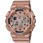 Genuine Casio G-Shock Special Color Model GA-100GD-9ACR Analog-Digital Watch - Rose Gold