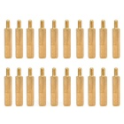 20+6mm M3 Hex Brass Pillars for Circuit Board Installation - Gold (20 PCS)