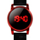 Fashion Touch Red LED Display Silicone Band Digital Wrist Watch - Black + Red (1 x 2016)