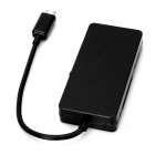 Mini Smile OTG 2-USB 2.0 HUB + Card Reader for Phone, Tablet - Black