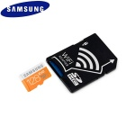 SAMSUNG 128GB MicroSDXC Class 10 Flash Memory Card w/ Wi-Fi SD Adapter