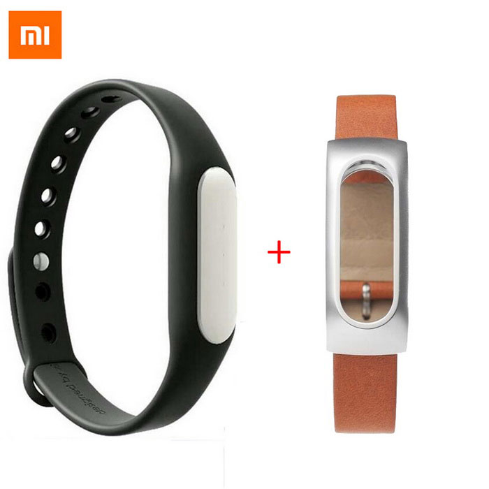 XiaoMi Band Bluetooth V4.0 Waterproof Smart Bracelet - Black + BrownSmart Bracelets<br>Form  ColorBlack + BrownQuantity1 DX.PCM.Model.AttributeModel.UnitMaterialAluminum alloy,TPSIV+Italy leather, stainless steelShade Of ColorBrownWater-proofIP67Bluetooth VersionBluetooth V4.0Touch Screen TypeNoOperating SystemAndroid 4.4Compatible OSSupports Android 4.4 or above, Bluetooth V4.0 Android cell phones; Suitable for IPHONE 4S/5/5C/5S/6/6 PLUS with iOS 7.0 or above.Battery Capacity45 DX.PCM.Model.AttributeModel.UnitBattery TypeLi-polymer batteryStandby Time30 DX.PCM.Model.AttributeModel.UnitOther FeaturesWith white LED indicator lightPacking List1 * MI BAND 1A (with: 1 x Bracelet), 1 x Chinese user manual, 1 x Charging cable (10cm))1 * MI Miband Leather Wristband (with:1 x Wristband, 1 x Special screwdriver, 4 x Screws)<br>