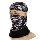 NUCKILY Cycling Face Mask / Neck Scarf / Headband - Black + Grey