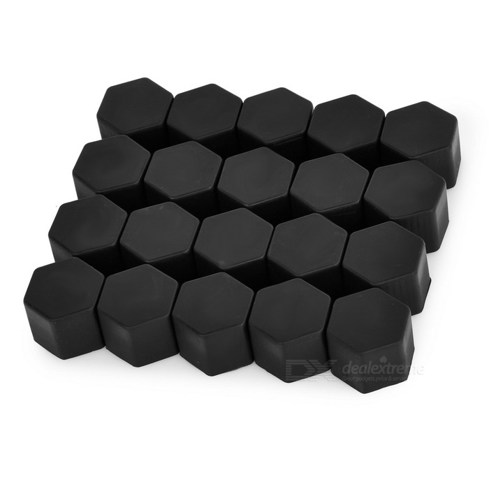 21# Silicone Car Screw Nut Cap Cover for Toyota & More - Black (20PCS)