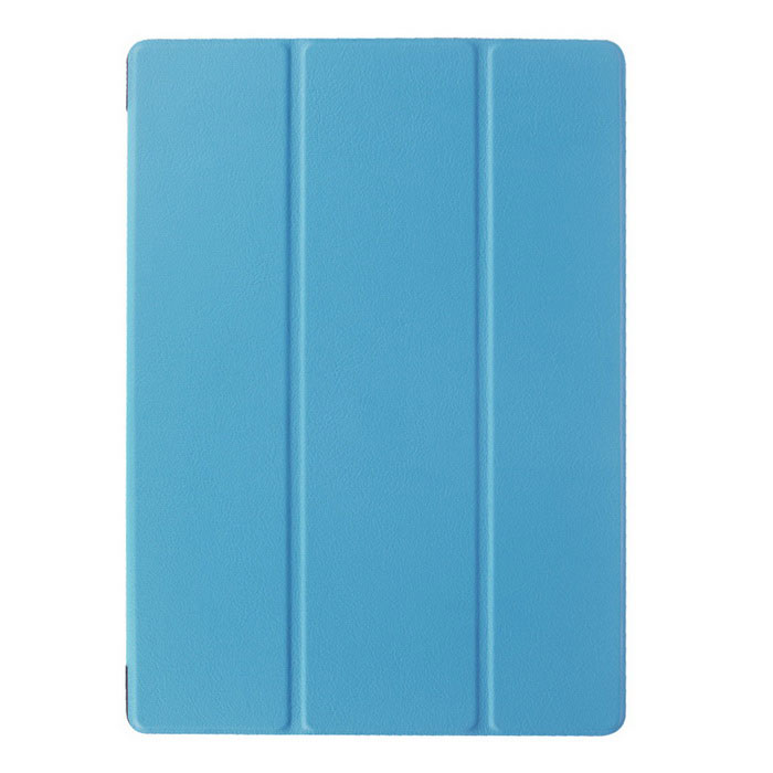 3-Fold Protective PU Case w/ Stand for Microsoft Surface 3 - Blue