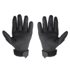 OUMILY Tactical Full-finger Adjustable Breathable Gloves - Black (XL)