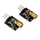 650nm Red Laser Diode Sensor Modules for Arduino - Black (2 PCS)
