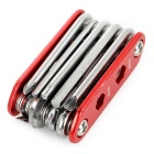 New 14-in-1 Multifuntional Foldable Blike Repair Tools - Red