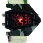 Stylish Men's Sport Digital LED Wrist Watch - Army Green