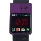 Silicone Band LED Red Touch Quartz Digital Smart Bluetooth Wrist Watch - Black + Purple (1 x 2012)