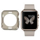 Protective TPU Dial Screen Protector Case for APPLE WATCH 38mm - Transparent Black