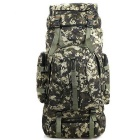 Outdoor Sports Mountaineering Travel Nylon Double-Shoulder Bag Backpack - Camouflage