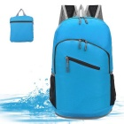 Portable Water-Resistant Outdoor Camping Travel Folding Double-Shoulder Bag Backpack - Blue