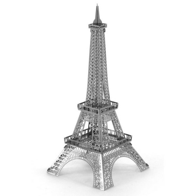 Creative 3D Laser Models Eiffel Tower Nano Puzzle Toy - Silver