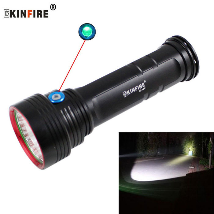 KINFIRE KF-14 14-T6 LED 4800lm 3-Mode White Flashlight Torch (6*18650)
