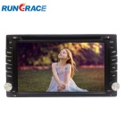 "Rungrace RL-257WGAR02 6.2"" TFT Screen 2-Din Car DVD Player w/ GPS, Bluetooth, RDS, ATV, FM - Black"