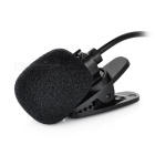 3.5mm Plug Clip-on Loudspeaker Microphone for Teaching - Black