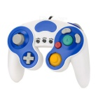 Wired Game Controller for Wii / Wii U / GameCube - White + Blue