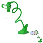 Convenient Clip-On Desktop ABS Mobile Phone Stand Holder - Green