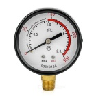 "Y60 ZG1 / 4 ""Kompressor / Pumpe / Wasser-Manometer - White + Black (0 ~ 2.0MPa)"