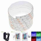 30W Waterproof RGB 5050 SMD LED Light Strip 1500lm w/ R/C / Transformer (AC 100~240V / 2M)
