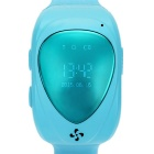 "Kid's 0.8"" Silicone Band Wrist Watch w/ GPS Positioning - Blue"