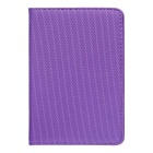 Protective Lychee Pattern 360' Rotation PU + PC Case Cover w/ Stand for IPAD MINI 1 / 2 / 3 - Purple