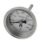 Stainless Steel Bimetal Temperature Measurement Thermometer - Black + Silver (0~400'C)