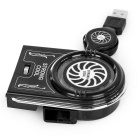 USB 3800rpm 12-Blade Cooling Fan for Laptops - Multi-Colored (2PCS)