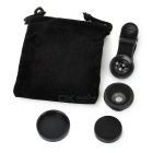 "Clip + 180"" Fish Eye Lens + 30X Macro Lens Set for Smartphones - Black"