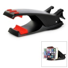 Universal Suction Cup 360' Rotation Car Clip Mount Holder Stand for 4~12cm Cell Phones - Black + Red