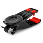 Suction Cup 360' Rotary Car Clip Mount for 4~12cm Phones - Black + Red