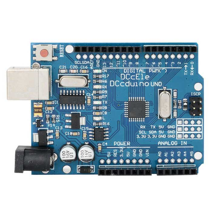 Arduino-Compatible R3 UNO USB Board + Acrylic Experimental PlatformKits<br>Form ColorBlue + WhiteModelR3 UNOQuantity1 DX.PCM.Model.AttributeModel.UnitMaterialCopper clad + componentsChipsetATmega328English Manual / SpecYesDownload Link   http://pan.baidu.com/s/1kTgSrAnPacking List1 x UNO R31 x USB cable50±2cm1 x Dianegative4 x Screws4  x Silica gel pads1 x Breadboard1 x Pack of accessories.<br>