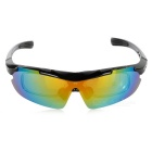 CTSmart PC Polarized Sunglasses w/ Replacement Lenses Set - Black