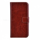 MO.MAT Protective PU Leather Wallet Case w/ Stand & Card Slots for Samsung Galaxy S6 - Brown