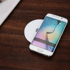 Stylish QI Round Universal Wireless Charger - White
