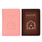 Fashion Lovers 'Passport-Halter - Kaffee + Pink (Paar)