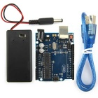 Portable UNO R3 ATmega328P Development Board w/ USB Cable / 9V Battery Case for Arduino DIY