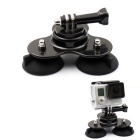 PANNOVO Plastic 3-Suction-Cup Mount Holder for GoPro Hero 4 / 3+ / Xiaoyi / SJ4000 / SJ5000 / SJ6000
